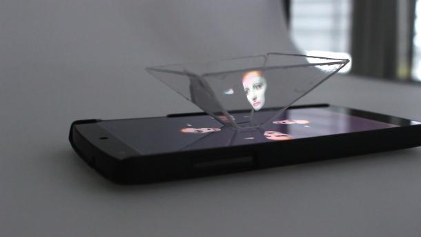 Smartphone-Hologramm