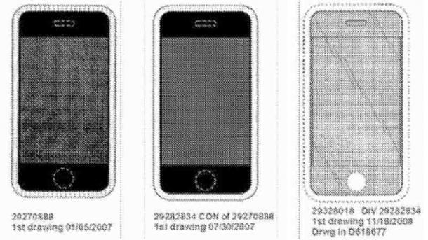 Geschmacksmuster für iPhone-Design