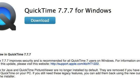 QuickTime 7.7.7