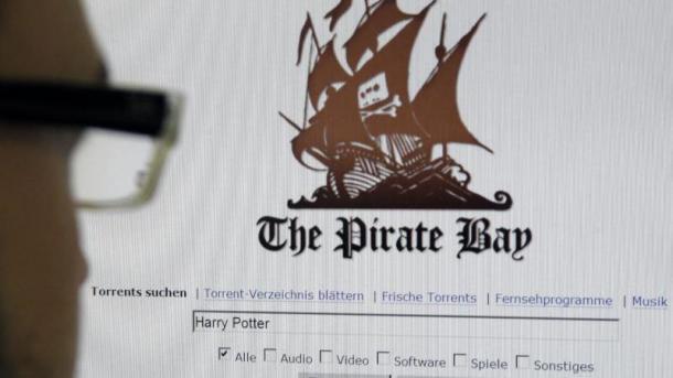 User vor Website The Pirate Bay