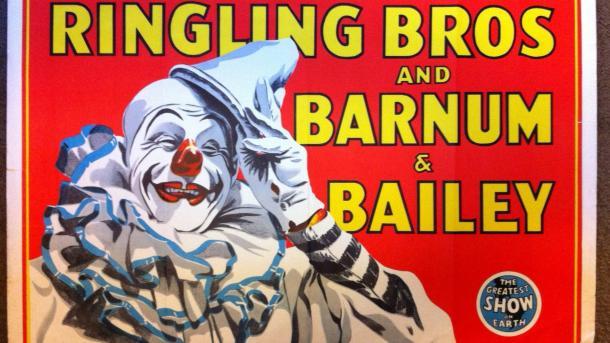 Zirkusposter mit Clown