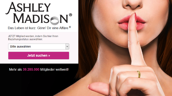 Seitensprung-Portal Ashley Madison