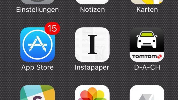 App Store zeigt Updates