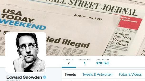 NSA-Whistleblower Edward Snowden twittert jetzt