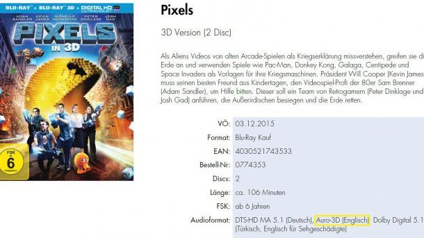 Rundum-Soundformat Auro-3D: Sony überrascht Heimcineasten mit Blu-ray-Ankündigung
