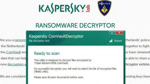 Das Ende von Bitcryptor und Coinvault: Alle Schlüssel in Tool verfügbar