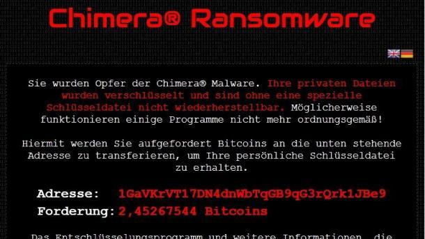 Verschlüsselungstrojaner Chimera droht mit Veröffentlichung persönlicher Daten