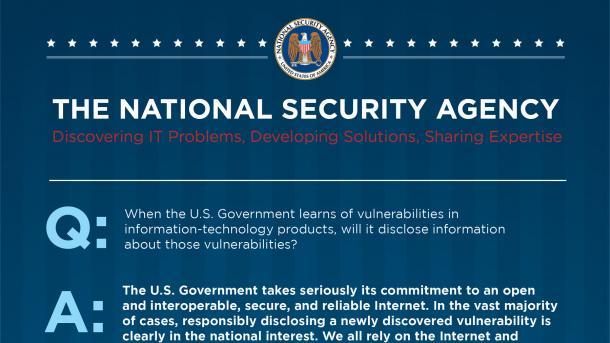 NSA verschweigt einige gefundene IT-Sicherheitslücken
