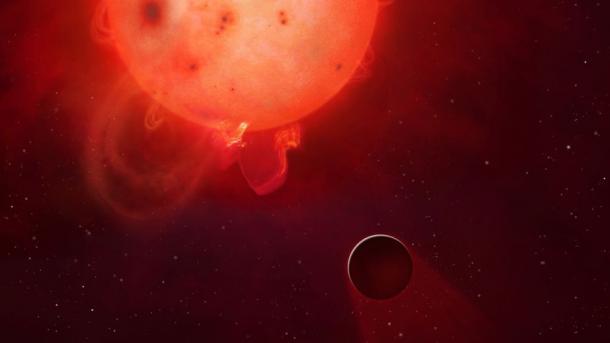 Künstlerische Darstellung von Kepler-438b