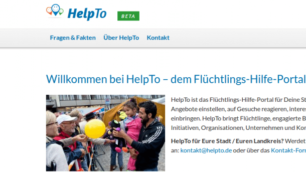 Neue Internetportale zur Vernetzung von Flüchtlingshilfe