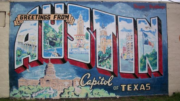 Greetings from Austin - Wandmalerei