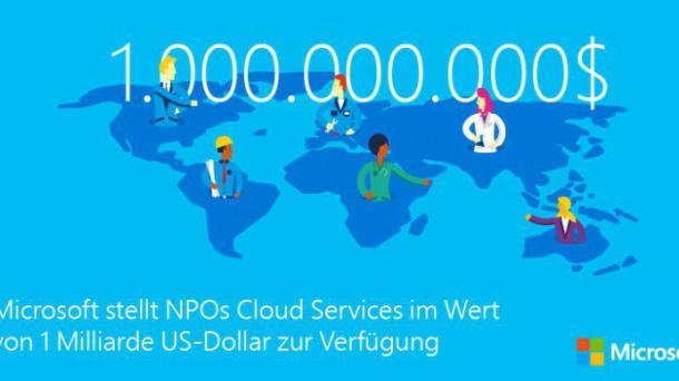Microsoft spendet Cloud-Dienste im Wert von einer Milliarde US-Dollar