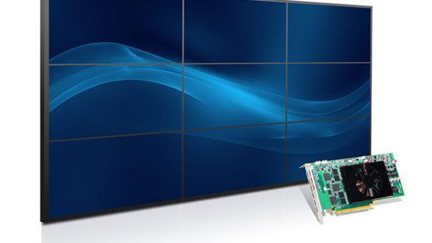 Multimonitor-Grafikkarte: Matrox C900 für neun Displays