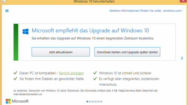 Upgrade auf Windows 10 per Doppelklick verhindern