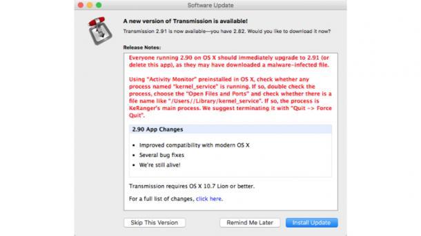 Mac-Bittorrent-Client enthält Ransomware