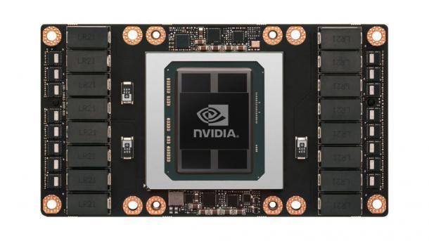 Tesla P100 mit Pascal-Grafikchip und 16 GByte HBM2-Speicher