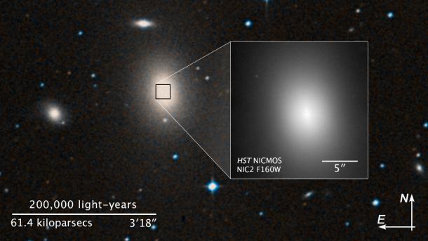 Astronomen finden supermassives Schwarzes Loch an unerwartetem Ort