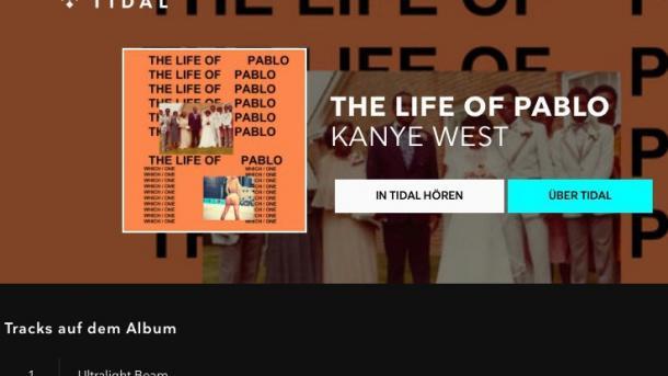 Kanye West verklagt, weil neues Album nicht exklusiv bei Tidal erschien