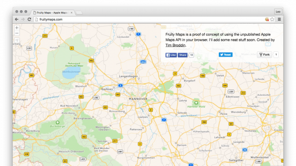 Apple Maps Browser