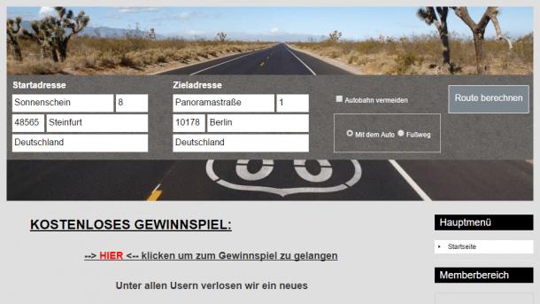 Polizei warnt: Online-Routenplaner als Abofalle