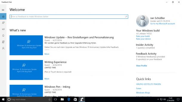 Windows-10-Vorabversion