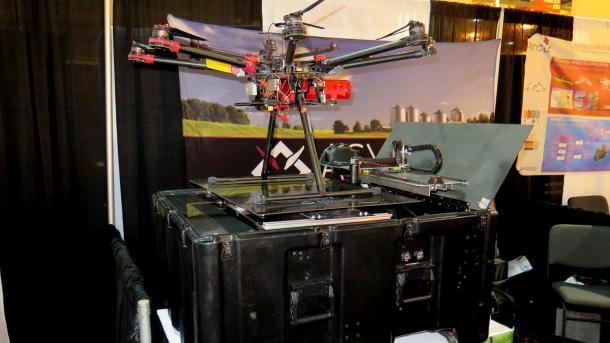 Asylons Dronehome mit Oktokopter auf der Drohnenmesse Xponential