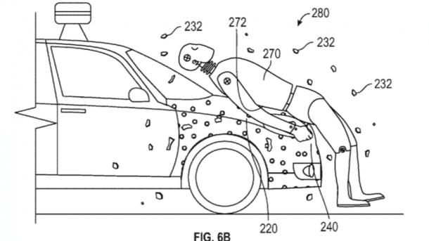 Google lässt sich Haftschicht als Verletzungsschutz für Fußgänger an autonomen und anderen Autos patentieren