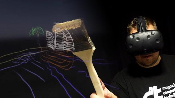 c't live: Virtual-Reality-Malen auf Zuruf