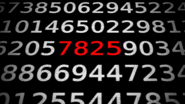 Zahlen, bitte! 7825