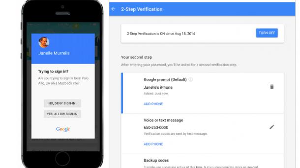 Zwei-Faktor-Authentifizierung: Smartphone als Schlüssel für Google-Konto