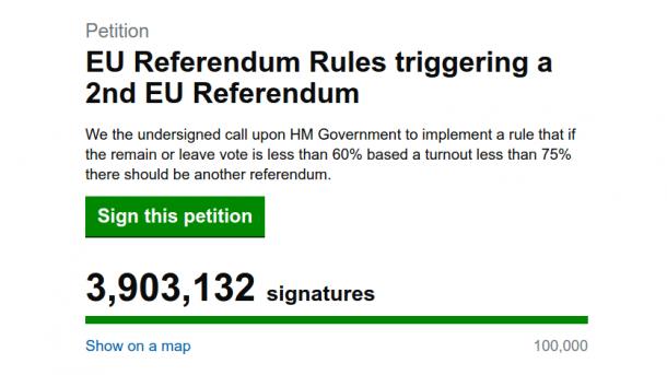 Brexit: Bots unterzeichnen für zweites EU-Referendum