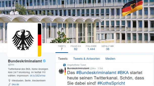 Bundeskriminalamt startet seine Social-Media-Strategie