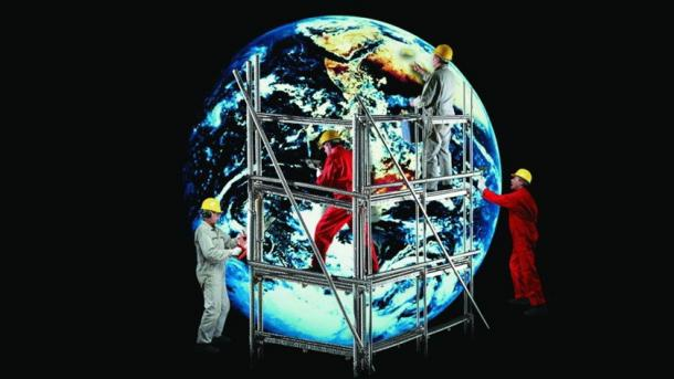 Bei Unigine 2.3 ist die Erde rund