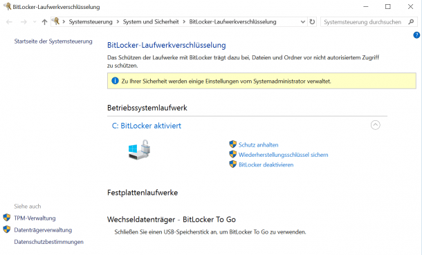 Windows-10-Upgrade: Bitlocker und Hyper-V im Konflikt