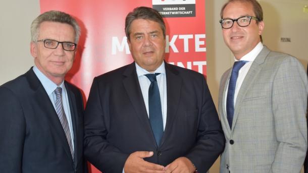Thomas de Maizière, Sigmar Gabriel und Alexander Dobrindt