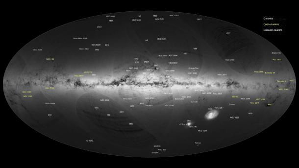ESA-Weltraumteleskop Gaia: Erste Himmelskarte mit einer Milliarde Sternen