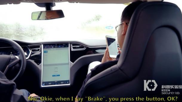 Tesla Model S lässt sich von fern kapern