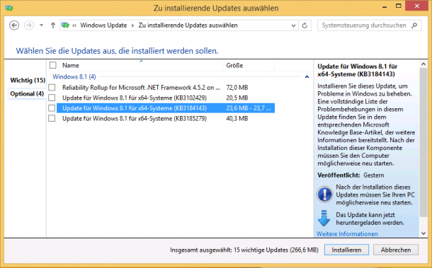 Optionales Windows-Update entfernt GWX