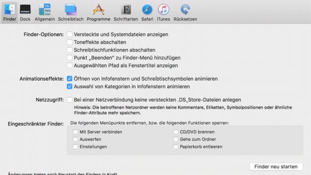Versteckte Features: TinkerTool für macOS Sierra optimiert