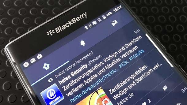 BlackBerry verspricht Android Updates