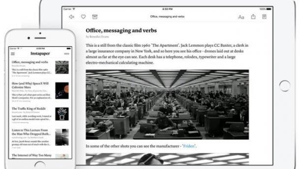 Später-Lesen-Dienst Instapaper macht Premium-Funktionen kostenlos