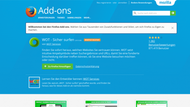 "Abgegriffene Browserdaten: Mozilla entfernt ""Web of Trust"""