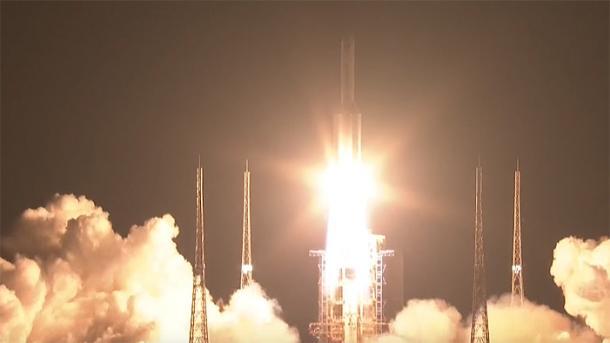 Schritt zur Raumstation: China startet seine leistungsfähigste Rakete