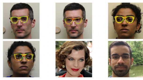 Buntes Brillengestell kann Gesichtserkennung austricksen