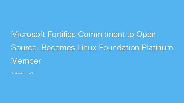 Microsoft schließt sich der Linux Foundation an