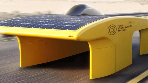 Sparsam, leicht, windschnittig: Studenten bauen Solar-Rennauto