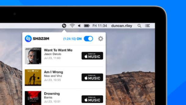Shazam für Mac