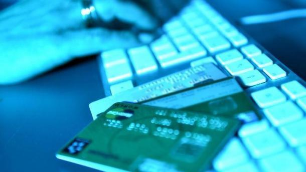 Tastatur mit Kreditkarten