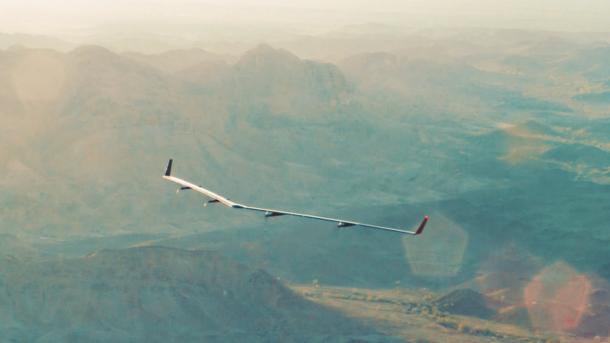 Facebooks Internet-Drohne Aquila während ihres Jungfernflugs