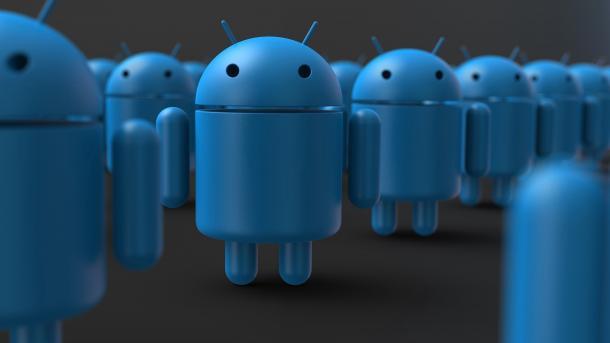 Blaue Androiden